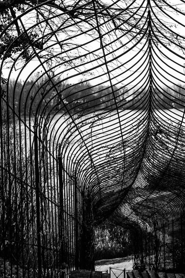 Μαύρες άσπρες γραμμές φρακτών στοκ εικόνες