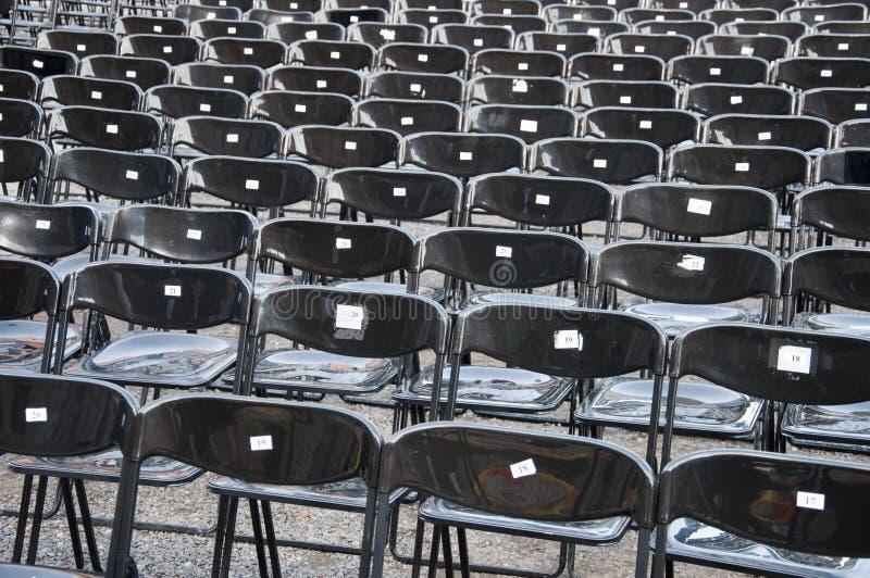 μαύρες έδρες στοκ φωτογραφία