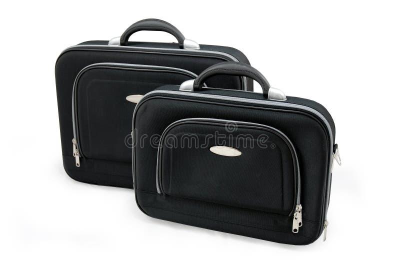 μαύρες βαλίτσες δύο στοκ φωτογραφία με δικαίωμα ελεύθερης χρήσης