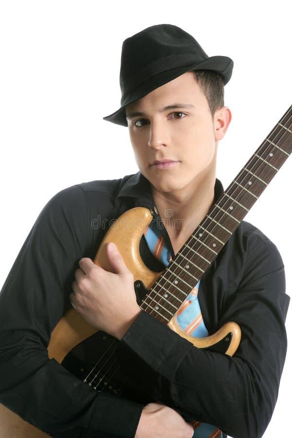 μαύρες κιθάρων καπέλων αρ&sigma στοκ εικόνες με δικαίωμα ελεύθερης χρήσης