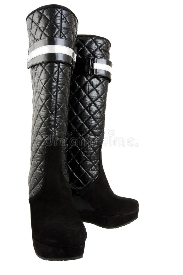 Download μαύρες μπότες στοκ εικόνα. εικόνα από απομονωμένος, τακούνι - 13183411