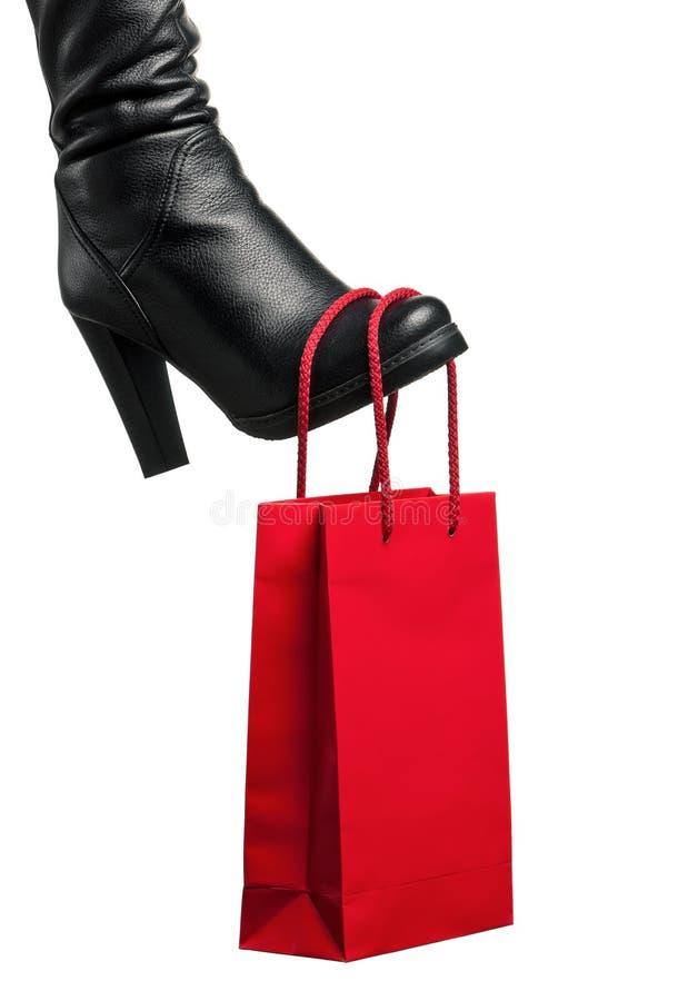 μαύρες μπότες στοκ φωτογραφία