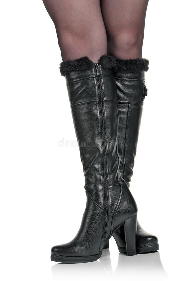 μαύρες μπότες στοκ εικόνα με δικαίωμα ελεύθερης χρήσης