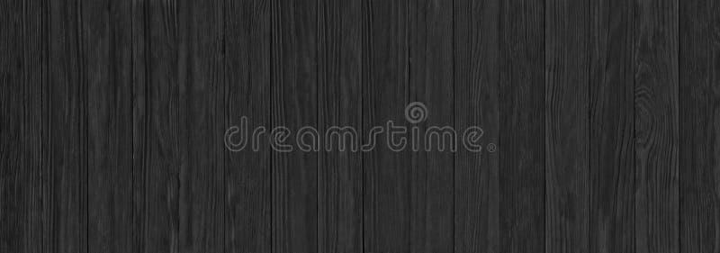 Μαύρες ξύλινες σανίδες, ένα πανόραμα της ξύλινης σύστασης με φυσικό στοκ εικόνα με δικαίωμα ελεύθερης χρήσης