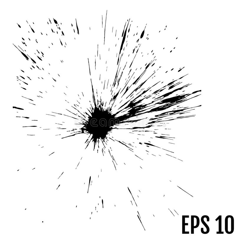 Μαύρες πτώσεις του χρώματος και των λεκέδων, λεκέδες μελανιού Διανυσματική σύσταση μελανιού ελεύθερη απεικόνιση δικαιώματος