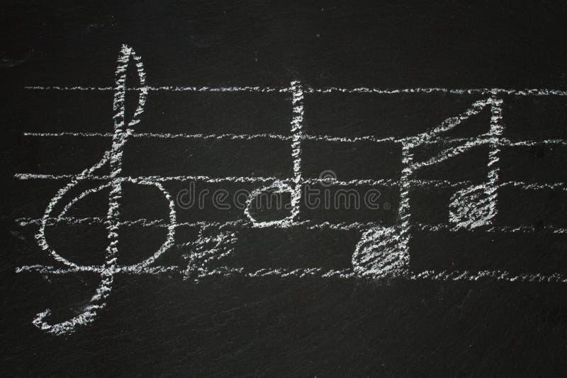 μαύρες σημειώσεις μουσ&io στοκ εικόνα