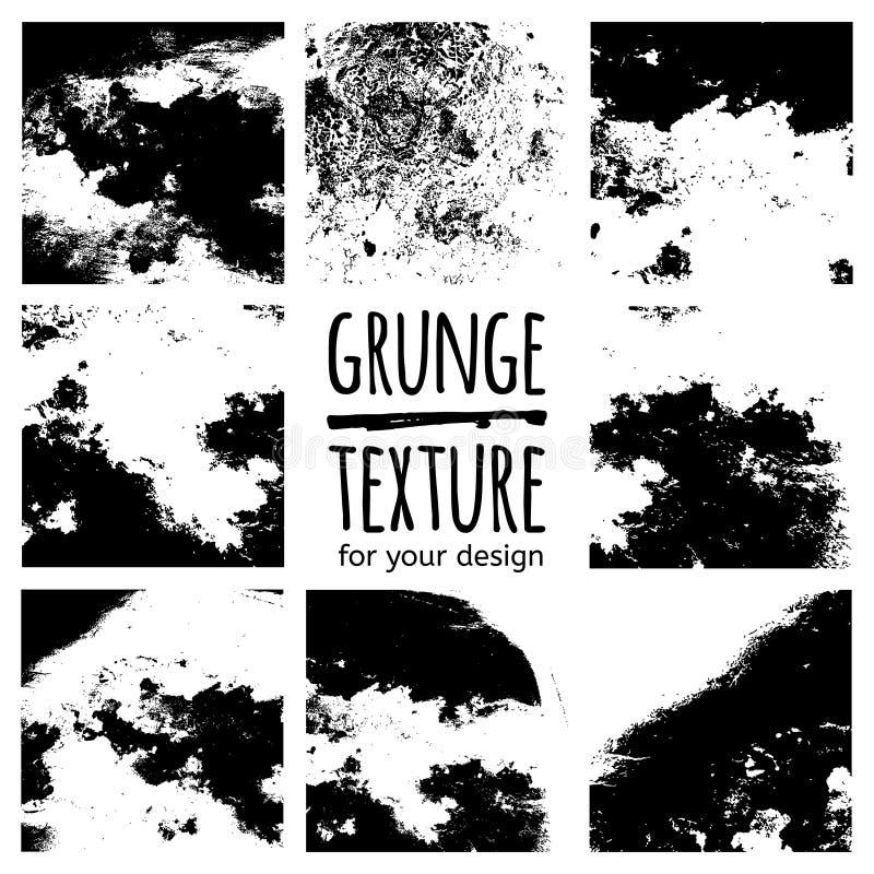 Μαύρες συστάσεις Grunge στο άσπρο υπόβαθρο ελεύθερη απεικόνιση δικαιώματος