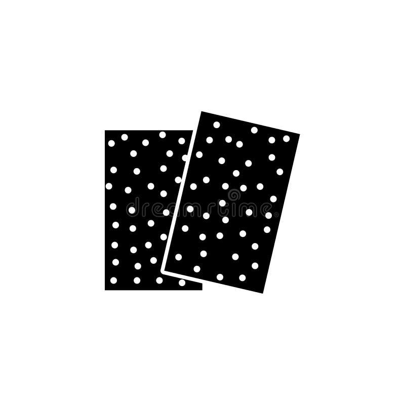 Μαύρη & άσπρη διανυσματική απεικόνιση του γυαλόχαρτου Επίπεδο εικονίδιο να στρώσει με άμμο τα φύλλα εγγράφου για τη βιοτεχνία, ξυ ελεύθερη απεικόνιση δικαιώματος