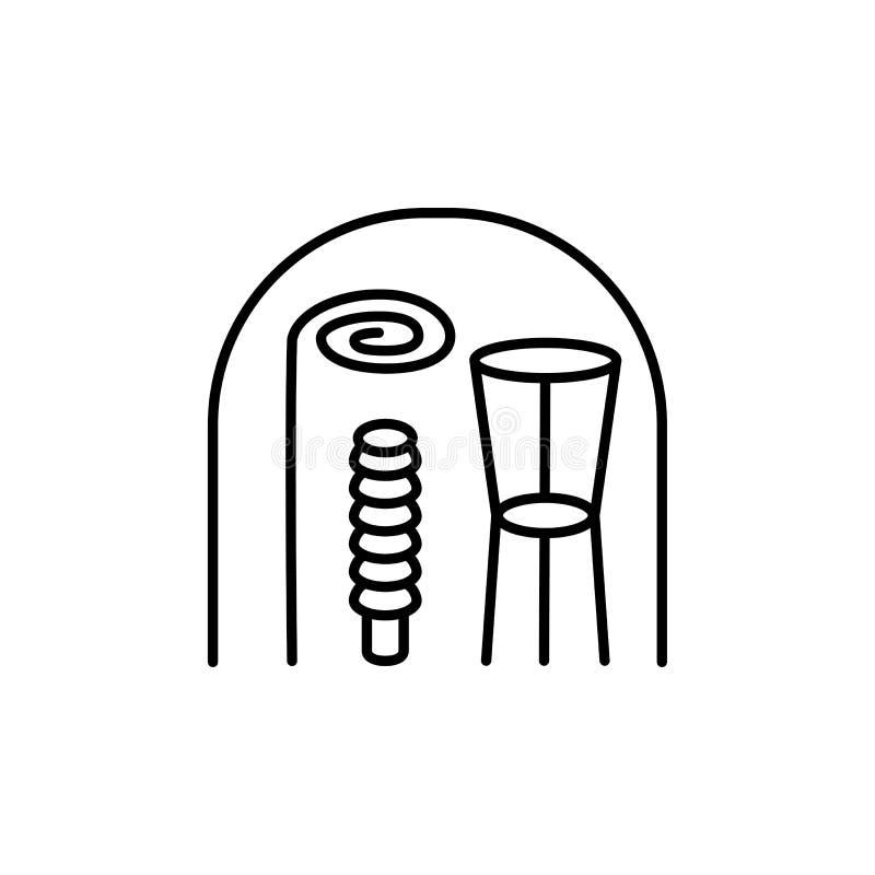 Μαύρη & άσπρη διανυσματική απεικόνιση των υποστηρίξεων εγκαταστάσεων Κωνικός, ho απεικόνιση αποθεμάτων