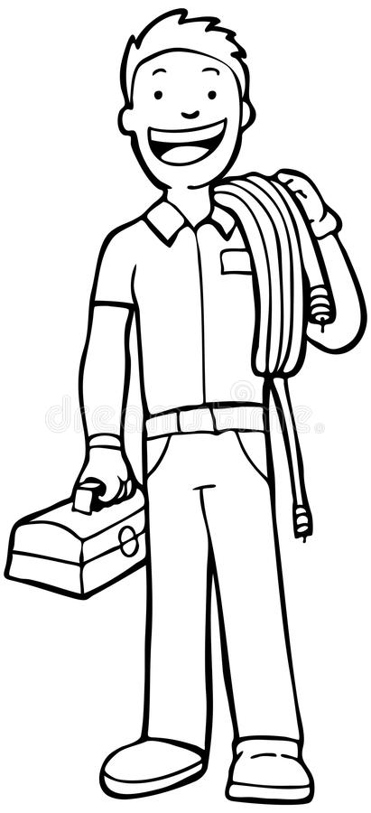 μαύρη άσπρη εργασία βασικών ατόμων ελεύθερη απεικόνιση δικαιώματος