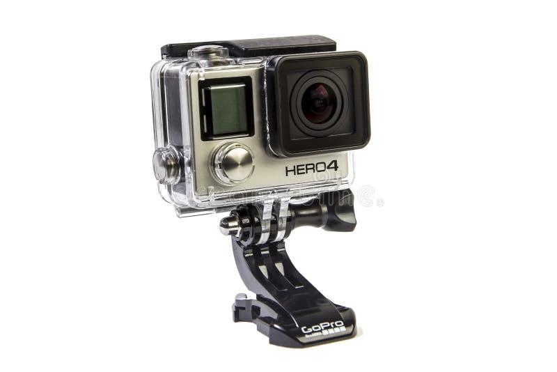 Μαύρη έκδοση Gopro Hero4 στοκ φωτογραφία με δικαίωμα ελεύθερης χρήσης