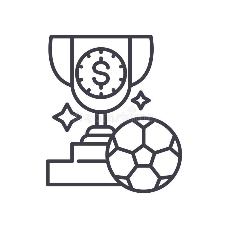 Μαύρη έννοια εικονιδίων βραβείων ποδοσφαίρου Επίπεδο διανυσματικό σύμβολο βραβείων ποδοσφαίρου, σημάδι, απεικόνιση απεικόνιση αποθεμάτων