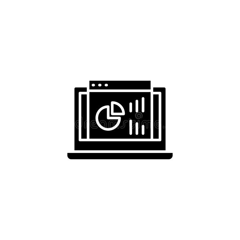 Μαύρη έννοια εικονιδίων ταμπλό προγράμματος Επίπεδο διανυσματικό σύμβολο ταμπλό προγράμματος, σημάδι, απεικόνιση ελεύθερη απεικόνιση δικαιώματος
