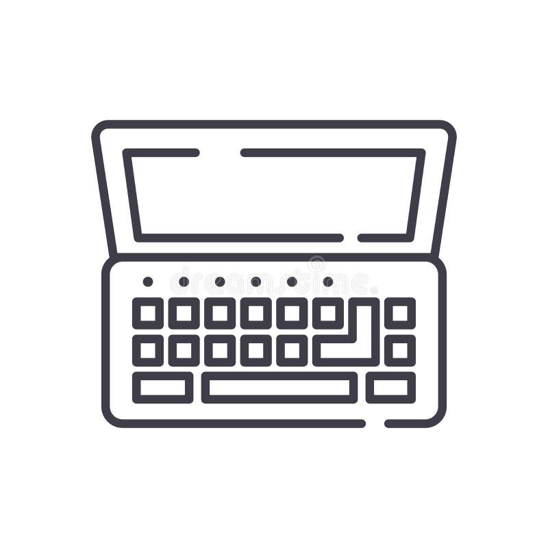 Μαύρη έννοια εικονιδίων Netbook Επίπεδο διανυσματικό σύμβολο Netbook, σημάδι, απεικόνιση ελεύθερη απεικόνιση δικαιώματος