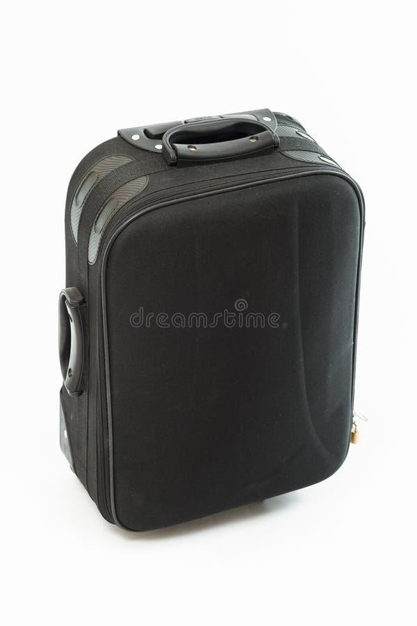 Μαύρη βαλίτσα ταξιδιού στοκ φωτογραφίες