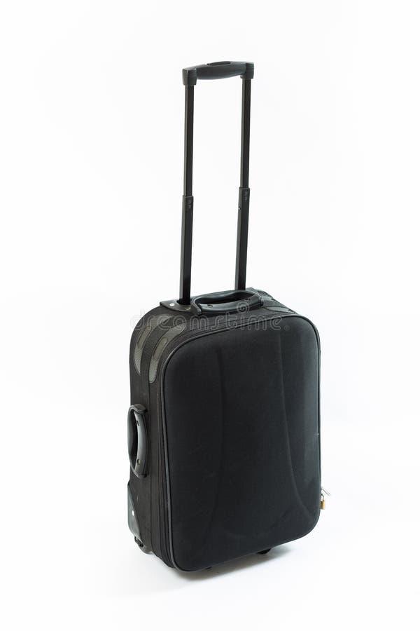 Μαύρη βαλίτσα ταξιδιού στοκ εικόνα