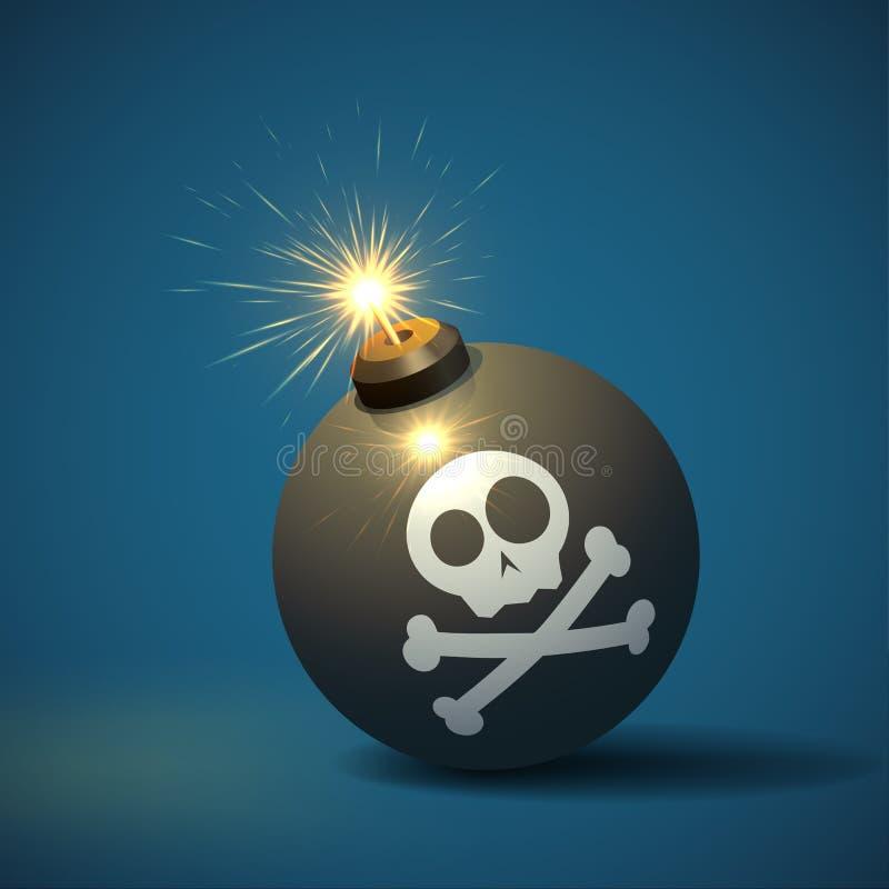 Μαύρη βόμβα ελεύθερη απεικόνιση δικαιώματος
