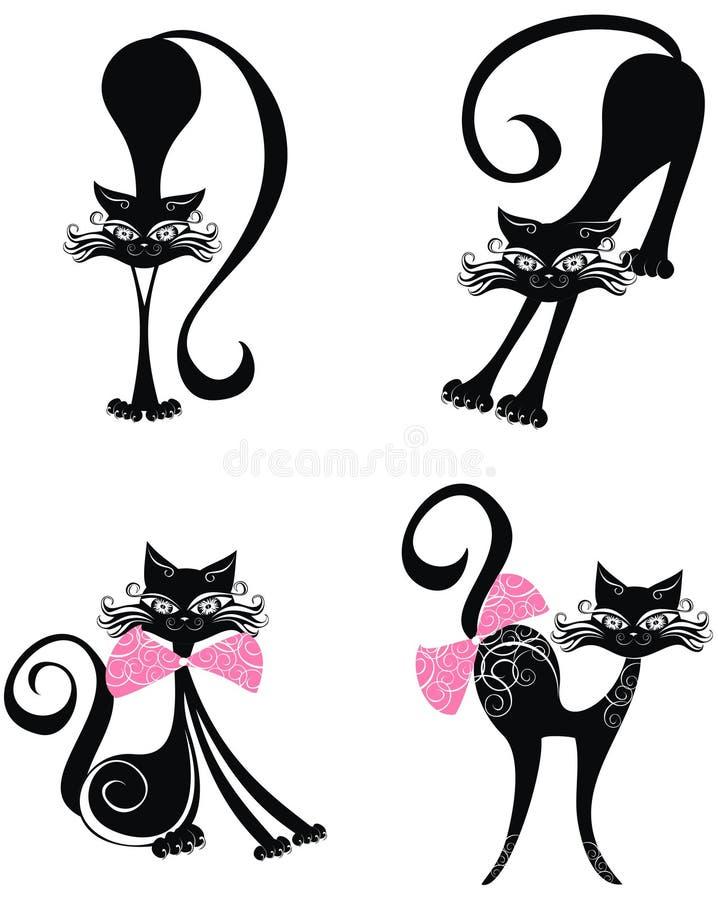 Μαύρη γάτα. Διανυσματική απεικόνιση   διανυσματική απεικόνιση
