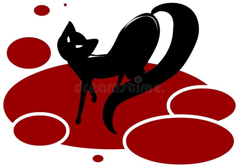 μαύρη γάτα διανυσματική απεικόνιση