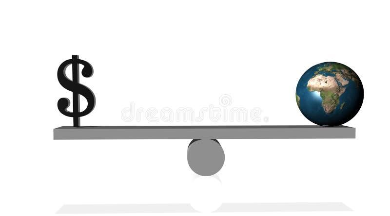 μαύρη γη δολαρίων ισορροπ απεικόνιση αποθεμάτων