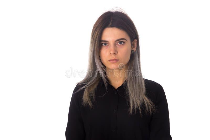 μαύρη γυναίκα μπλουζών στοκ φωτογραφία