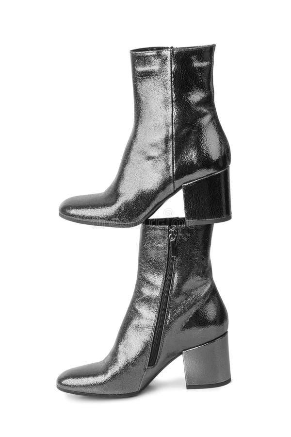 μαύρη γυναίκα παπουτσιών στοκ εικόνες με δικαίωμα ελεύθερης χρήσης