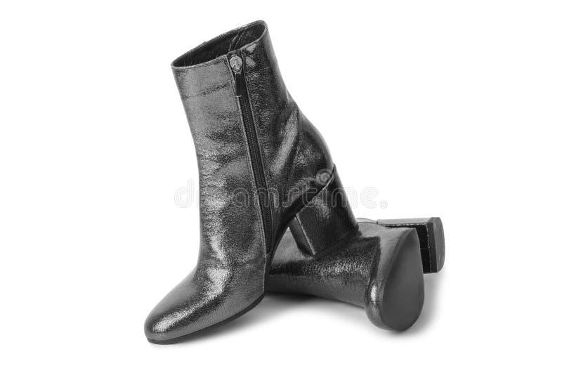 μαύρη γυναίκα παπουτσιών στοκ φωτογραφία με δικαίωμα ελεύθερης χρήσης