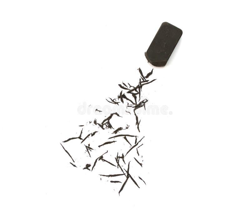 Μαύρη γόμα στο λευκό στοκ εικόνες