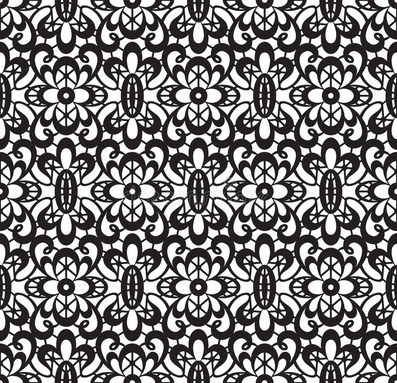μαύρη δαντέλλα άνευ ραφής διανυσματική απεικόνιση