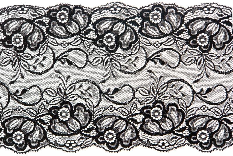 μαύρη δαντέλλα στοκ εικόνα