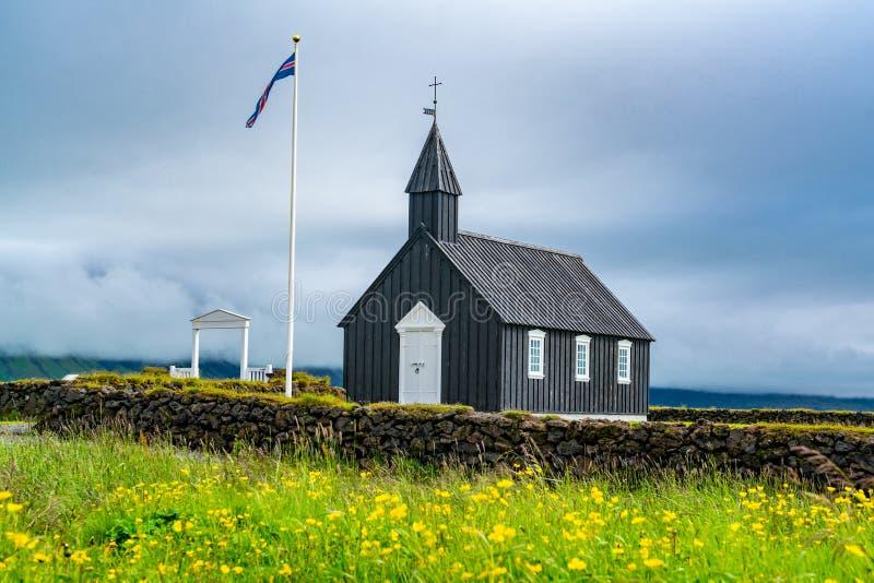 Μαύρη εκκλησία Buoakirja Budir στοκ φωτογραφία με δικαίωμα ελεύθερης χρήσης