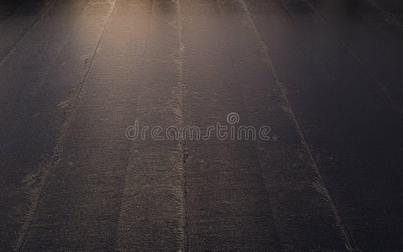 Μαύρη επιφάνεια πίσσας υποβάθρου αφηρημένη τριγωνική, μμένη, τρισδιάσ ελεύθερη απεικόνιση δικαιώματος