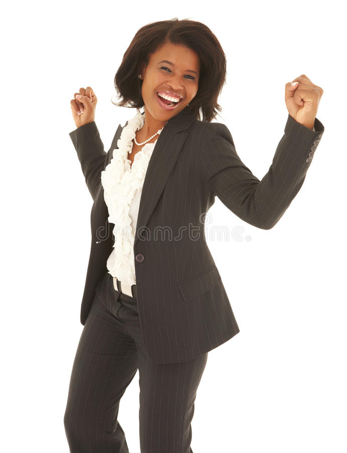 Μαύρη επιχειρηματίας στοκ εικόνα με δικαίωμα ελεύθερης χρήσης