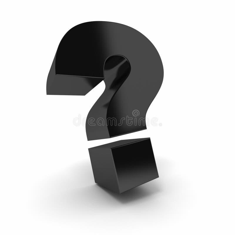 μαύρη ερώτηση σημαδιών απεικόνιση αποθεμάτων