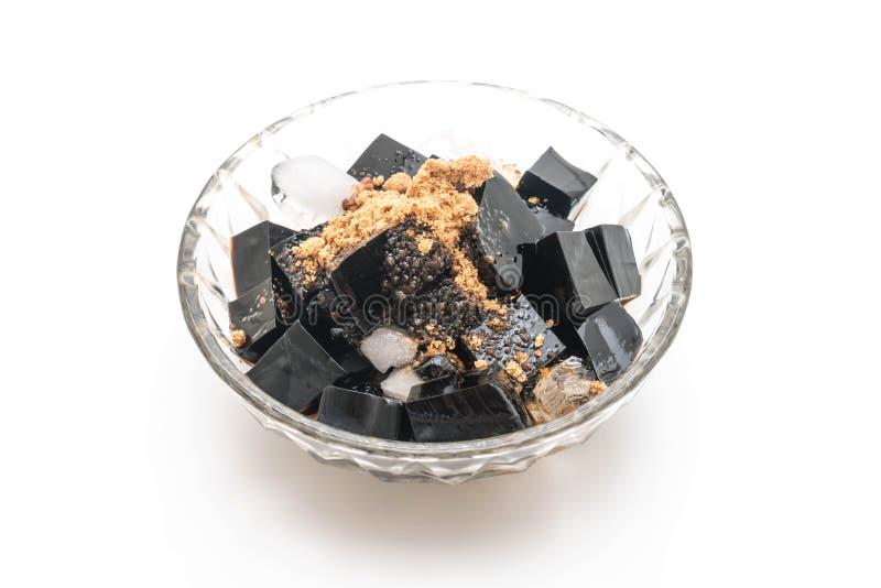 μαύρη ζελατίνα χλόης στοκ φωτογραφίες