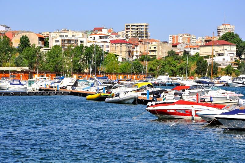 μαύρη θάλασσα constanta ακτών πόλε&omeg στοκ εικόνες