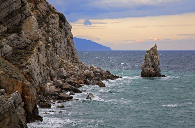 Μαύρη Θάλασσα σε Gaspra Κριμαία Ουκρανία στοκ εικόνες με δικαίωμα ελεύθερης χρήσης