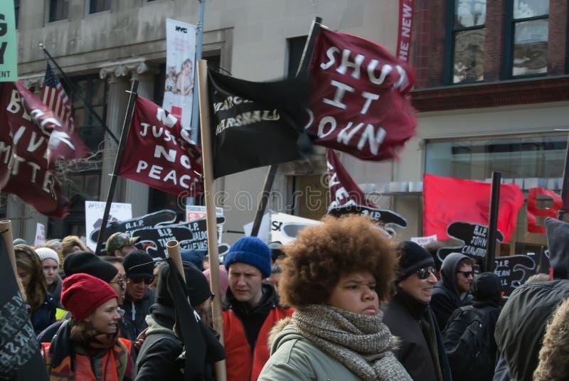 Μαύρη διαμαρτυρία θέματος ζωών στοκ φωτογραφίες