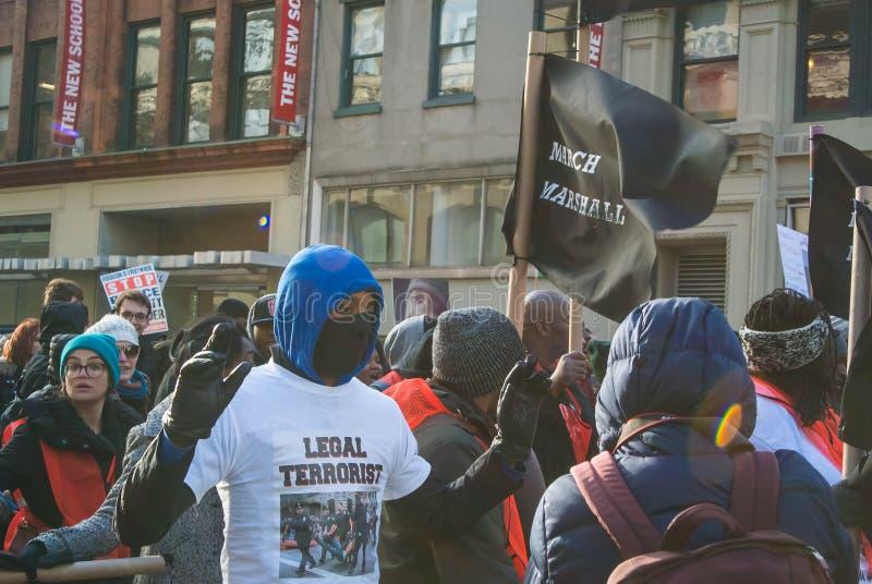 Μαύρη διαμαρτυρία θέματος ζωών στοκ εικόνες
