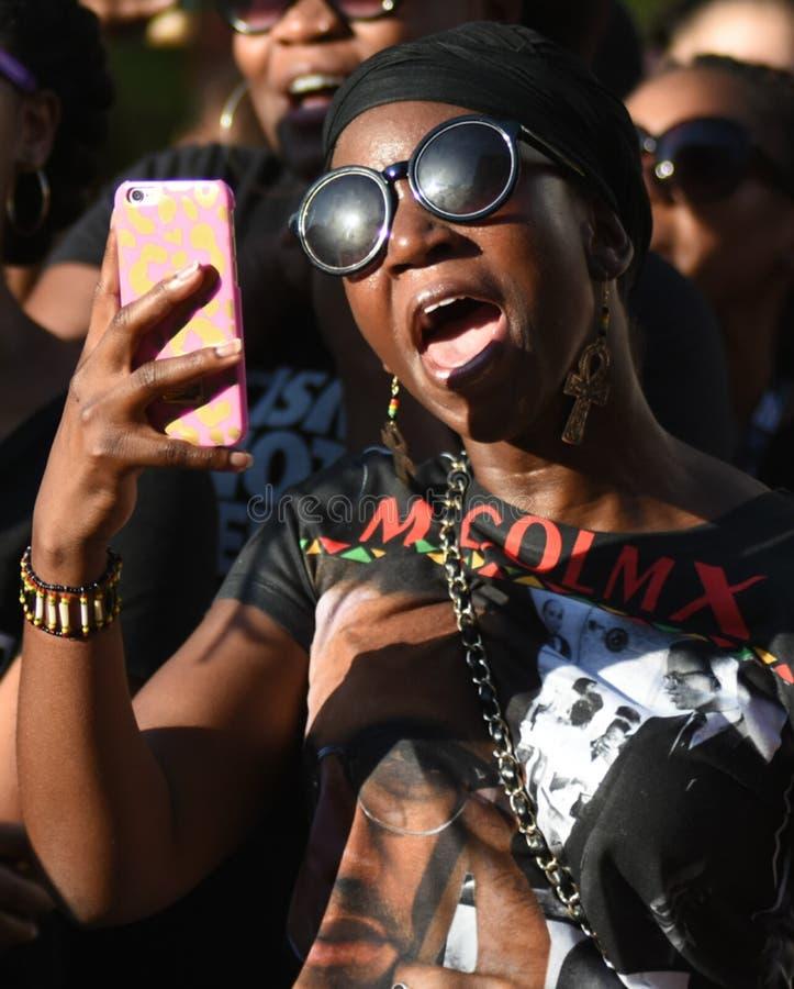 Μαύρη διαμαρτυρία θέματος ζωών στοκ εικόνα
