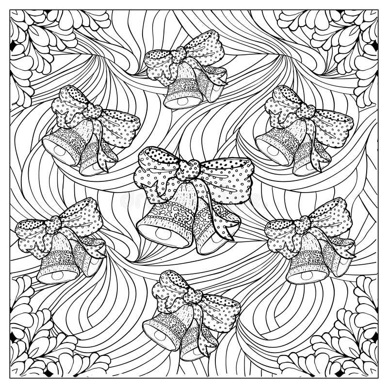 Μαύρη διανυσματική μονο έγχρωμη εικονογράφηση Ενήλικο σχέδιο σελίδων βιβλίων χρωματισμού απεικόνιση αποθεμάτων