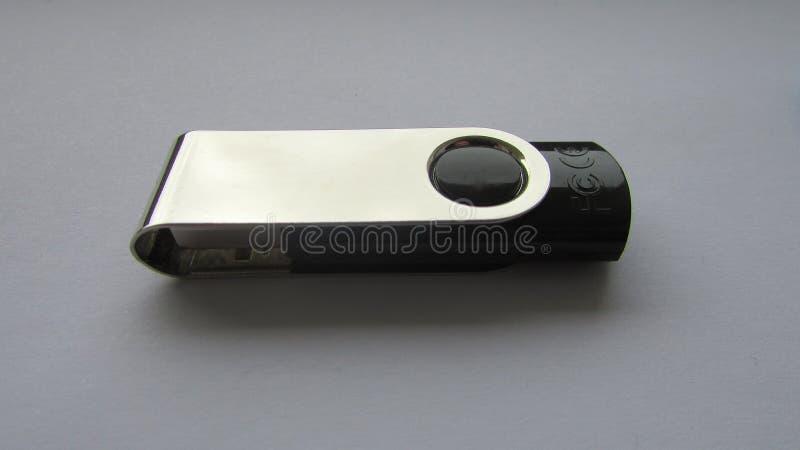 Μαύρη κίνηση λάμψης μνήμης USB στοκ φωτογραφία