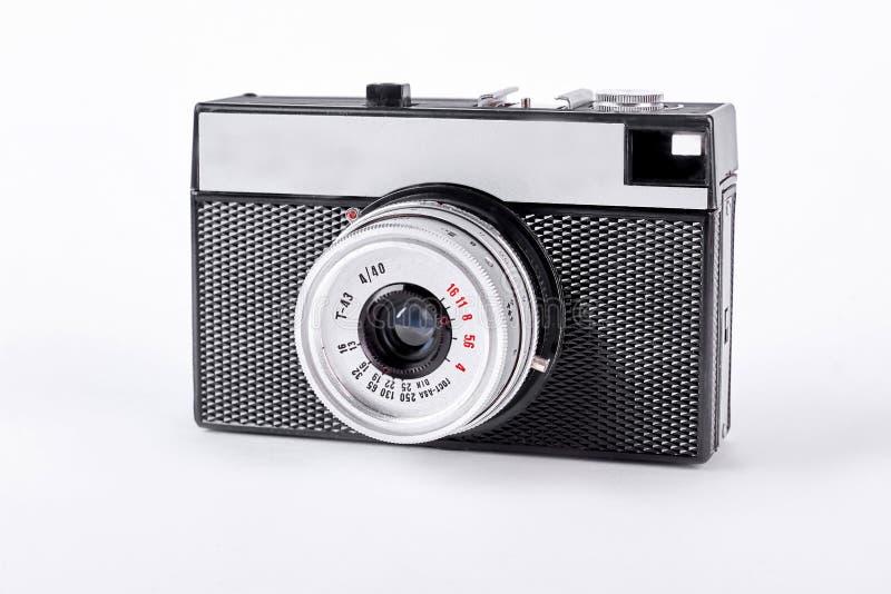 Μαύρη και ασημένια αναδρομική κάμερα στοκ φωτογραφία με δικαίωμα ελεύθερης χρήσης