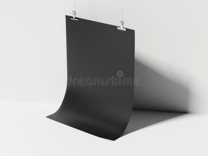Μαύρη καμμμένη ένωση φύλλων τρισδιάστατη απόδοση ελεύθερη απεικόνιση δικαιώματος