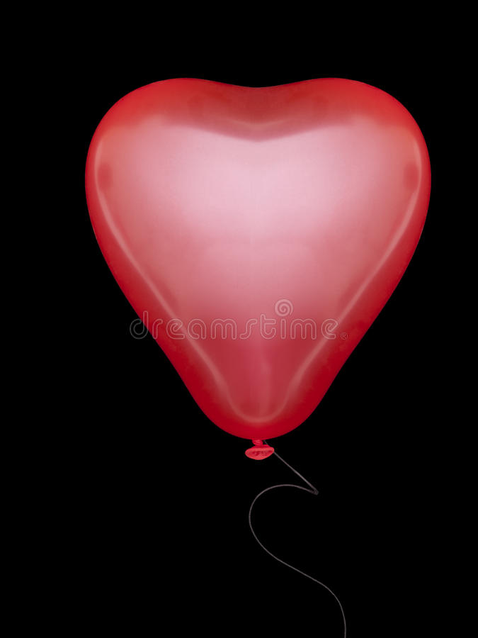 μαύρη καρδιά μπαλονιών πέρα α στοκ φωτογραφίες