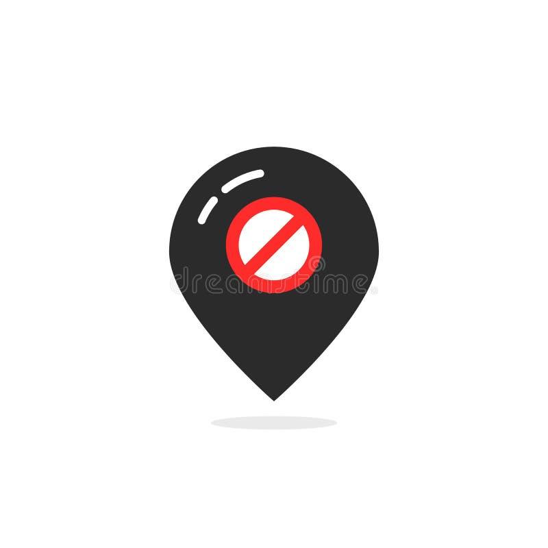Μαύρη καρφίτσα χαρτών όπως off-$l*line ελεύθερη απεικόνιση δικαιώματος