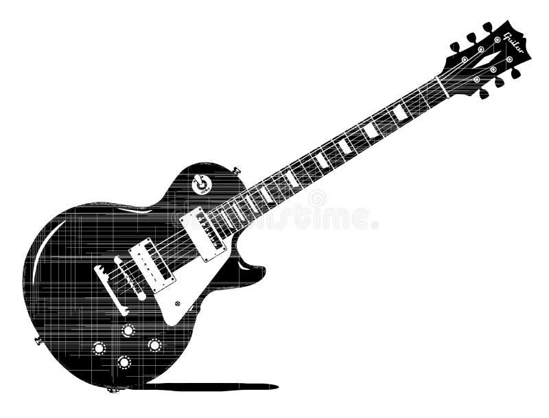 μαύρη κιθάρα απεικόνιση αποθεμάτων