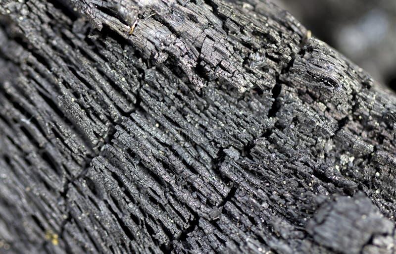 Μαύρη κινηματογράφηση σε πρώτο πλάνο σύστασης ξυλάνθρακα για το υπόβαθρο Κορυφή wiev στοκ εικόνα με δικαίωμα ελεύθερης χρήσης