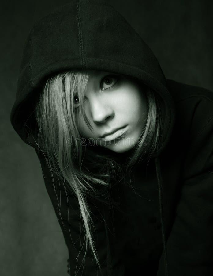 μαύρη κουκούλα στοκ εικόνα με δικαίωμα ελεύθερης χρήσης