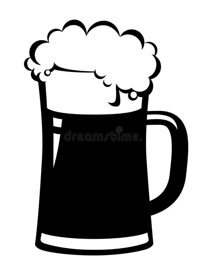 Μαύρη κούπα μπύρας διανυσματική απεικόνιση